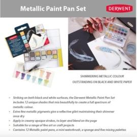 DMP2305657 Derwent Paint Pan Set - Metallic