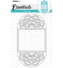 STENCILSL398 Cutting Die Cardshape Twisted gate Essentials