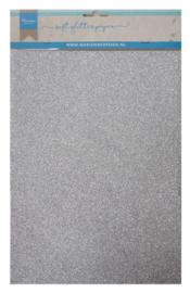 CA3142 Soft glitter paper Silver