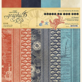 4502177 45 12x12 Inch Patterns & Solids Paper Pad Catch of the Day