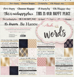 MP-60552 Memory Place Words 12x12 Inch Paper Pack