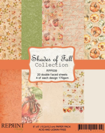 RPP039 Reprint  Collection 6x6 Inch Paper Pack Shades of Fall