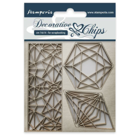 SCB28 Stamperia Decorative Chips Geometry