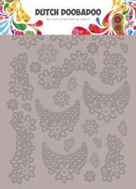 492.006.005 Greyboard Art Lace flowers