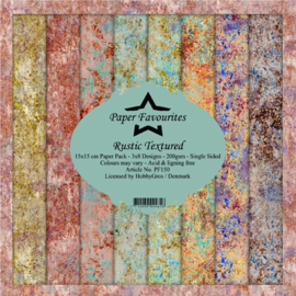PF150 Paper Favourites Rustic Textured 6x6 Inch Paper Pack