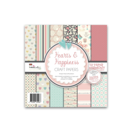 PD8119 Polkadoodles 6x6 Inch Paper Pack Hearts & Happiness