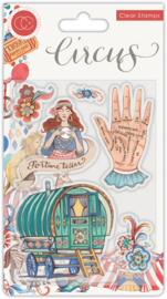 CCSTMP034 Craft Consortium Circus Fortune Teller Clear Stamp