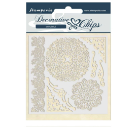 SCB43 Stamperia Decorative Chips Passion Laces and Corners
