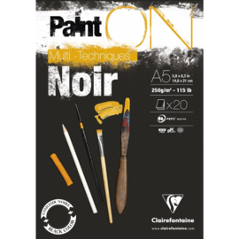 975168C Paint'On Black pad A5