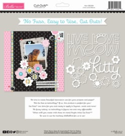 BB2284 Bella BLVD Live Love Meow 12x12 Inch Cut Outs