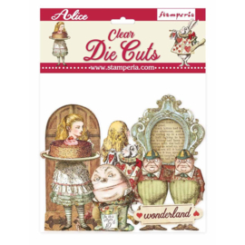 DFLDCP11 Stamperia Alice Through the Looking Glass Clear Die Cuts