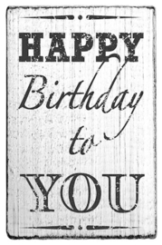 V01009 Colop Happy Birthday to You Vintage Rubber Stamps
