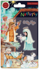 CCSTMP047 Craft Consortium Nativity Clear Stamps Nativity