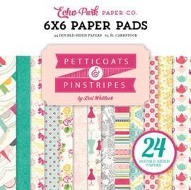 PC103023 Echo Park Petticoats & Pinstripes Girl 6x6 Inch Paper Pad