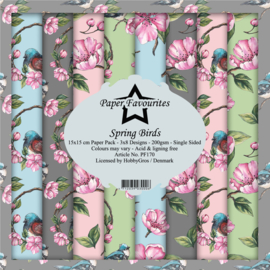 PF170 Paper Favourites 6x6 Inch Paper Pack Spring Birds