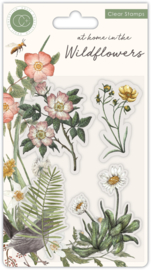 CCSTMP036 Craft Consortium At Home in the Wildflowers Clear Stamps Flora
