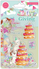 CCSTMP039 Craft Consortium The Gift of Giving Clear Stamps Make a Wish