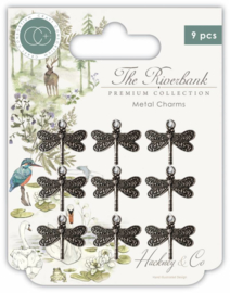 CCMCHRM003 Craft Consortium The Riverbank Dragonfly Charms
