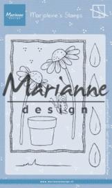 MZ1903 Clearstamp Marjoleine's - Daisies