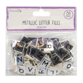 DCBS224 Dovecraft Silver Chipboard Letter Tiles