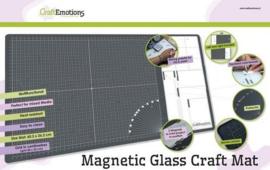 860503/1800 Glass Craft Mat magnetisch met tempered glass grid