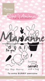 EC0178 Clear Stamp Eline's cute bunnies