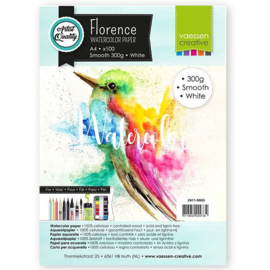 2911-9003 Florence • Watercolor paper Smooth White A4 100pcs 300g