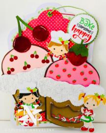 3000/0088 Bella Lulu Knipvel Berry Sweet