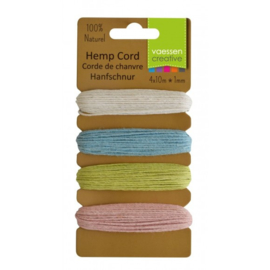 3908-006 Hemp cord assortiment 4x10m spring