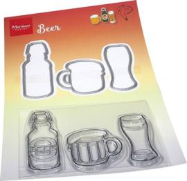 HT1664 Clear Stamp & Die set Hetty's Bier