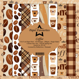PF138 Paper Favourites Coffee 6x6 Inch Paper Pack