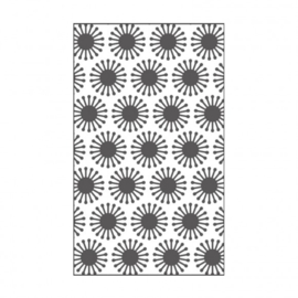 "100604-111 Vaessen Creative embossing folder 3x5"" blooms"
