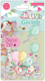 CCSTMP040 Craft Consortium The Gift of Giving Clear Stamps Special Day