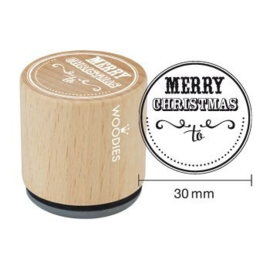 WE7004 Woodies Merry Christmas to… Rubber Stamp