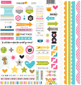 BB2271 Bella BLVD Chloe Doohickey 12x12 Inch Cardstock Stickers