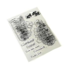 CS170 ECD Clearstamp - Words & Layers