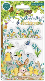 CCSTMP056 Craft Consortium Bluebells and Buttercups Donkey Clear Stamps