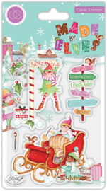 CCSTMP070 Craft Consortium Made by Elves Sleigh Clear Stamps