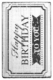 V01008 Colop Happy Birthday to You Frame Vintage Rubber Stamps