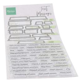 CS1060 stempel Clearstamp met mallen - Text messages