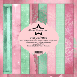 PF151 Paper Favourites Pink and Mint 6x6 Inch Paper Pack