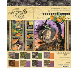 4502282 Graphic 45 8x8 Inch Paper Pad Midnight Tales