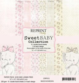 CRP010 Reprint 12x12 Inch Collection Pack  Sweet Baby Pink