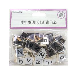 DCBS264 Dovecraft Mini Metallic Letter Tiles Silver (200pcs)