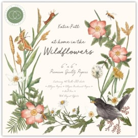 CCPPAD018B Craft Consortium At Home in the Wildflowers 6x6 Inch Paper Pad