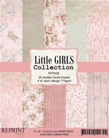 RPP038 Reprint  Collection 6x6 Inch Paper Pack Little Girls
