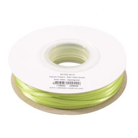 301002-5018 Vaessen Creative • Satijnlint dubbel 3 mm 100m Appelgroen