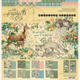 4502135 Graphic 45 Woodland Friends 12x12 Collection Pack