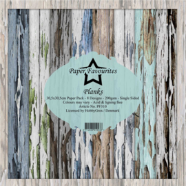 PF310 Dixi Craft Planks 12x12 Inch Paper Pack