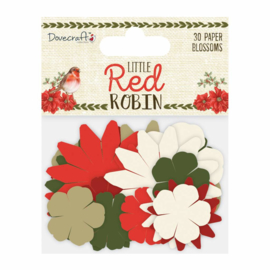 DCFLW022X18 Dovecraft Little Red Robin Paper Blossoms